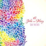 Χρωματισμένη Watercolor πρόσκληση χρωμάτων ουράνιων τόξων Στοκ φωτογραφία με δικαίωμα ελεύθερης χρήσης