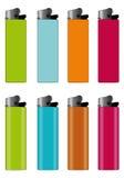 χρωματισμένοι αναπτήρες απεικόνιση αποθεμάτων