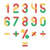 Χρωματισμένοι αριθμοί καθορισμένοι Στοκ Εικόνες