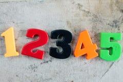 Χρωματισμένοι αριθμοί στο υπόβαθρο καμβά Στοκ Εικόνες