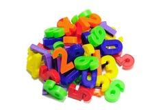 χρωματισμένοι αριθμοί Στοκ Εικόνα