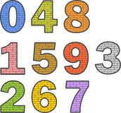 Χρωματισμένοι αριθμοί Στοκ φωτογραφία με δικαίωμα ελεύθερης χρήσης