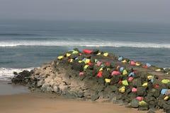 χρωματισμένοι βράχοι Στοκ Φωτογραφίες