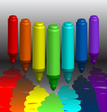 χρωματισμένοι δείκτες π&omicron Στοκ φωτογραφίες με δικαίωμα ελεύθερης χρήσης