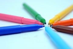 Χρωματισμένοι δείκτες στοκ φωτογραφίες