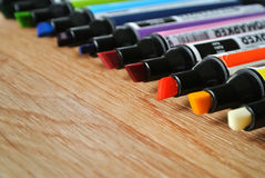 χρωματισμένοι δείκτες Στοκ Φωτογραφία
