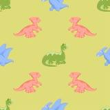 Χρωματισμένοι δεινόσαυροι κινούμενων σχεδίων Στοκ φωτογραφία με δικαίωμα ελεύθερης χρήσης