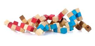 Χρωματισμένοι κύβοι παιδιών Στοκ Εικόνες