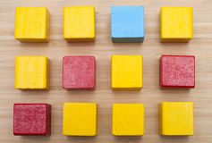 Χρωματισμένοι κύβοι Στοκ φωτογραφίες με δικαίωμα ελεύθερης χρήσης