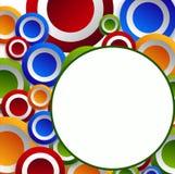 Χρωματισμένοι κύκλοι στους κύκλους Στοκ φωτογραφία με δικαίωμα ελεύθερης χρήσης