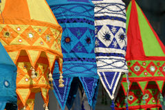 χρωματισμένοι λαμπτήρες Στοκ Φωτογραφίες