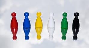 Χρωματισμένοι μετρητές παιχνιδιών Στοκ Εικόνες