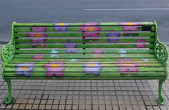 Χρωματισμένοι πάγκοι του Σαντιάγο σε Las Condes, Σαντιάγο de Χιλή Στοκ φωτογραφία με δικαίωμα ελεύθερης χρήσης