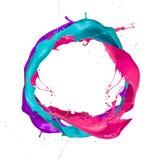 Χρωματισμένοι παφλασμοί Στοκ φωτογραφία με δικαίωμα ελεύθερης χρήσης