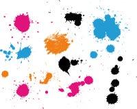 χρωματισμένοι παφλασμοί splatt ελεύθερη απεικόνιση δικαιώματος