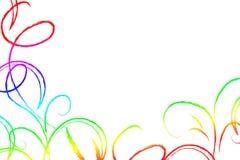 χρωματισμένοι στρόβιλοι Στοκ Εικόνα