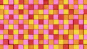 Χρωματισμένοι συγκεκριμένοι κύβοι Στοκ Φωτογραφίες