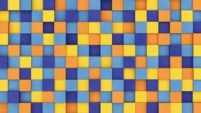 Χρωματισμένοι συγκεκριμένοι κύβοι Στοκ Φωτογραφία