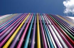 χρωματισμένοι σωλήνες Στοκ Εικόνα