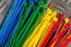 Χρωματισμένοι σύνολο δεσμοί καλωδίων Στοκ Φωτογραφία