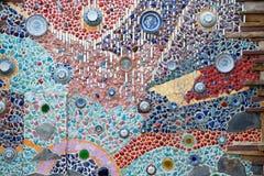 Χρωματισμένοι τοίχοι, μαρμάρινοι τοίχοι, τέχνη Στοκ Εικόνες
