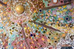 Χρωματισμένοι τοίχοι, μαρμάρινοι τοίχοι, τέχνη Στοκ Φωτογραφία