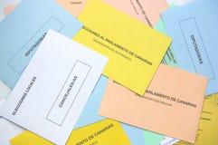 Χρωματισμένοι φάκελοι των διαφορετικών εκλογών στοκ φωτογραφία με δικαίωμα ελεύθερης χρήσης