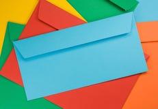 χρωματισμένοι φάκελοι Στοκ Φωτογραφία