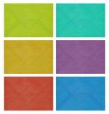 Χρωματισμένοι φάκελοι Στοκ Εικόνα