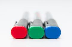 Χρωματισμένοι rgb δείκτες Στοκ φωτογραφία με δικαίωμα ελεύθερης χρήσης