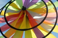 Χρωματισμένος ανεμόμυλος υπαίθρια Στοκ εικόνες με δικαίωμα ελεύθερης χρήσης