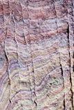 χρωματισμένος βράχος Στοκ Εικόνες