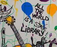 χρωματισμένος γκράφιτι το Στοκ Φωτογραφία