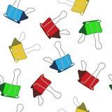 Χρωματισμένος γραφείου συνδετήρας Ένα σκίτσο άνευ ραφής διάνυσμα προτύπ&omeg Στοκ φωτογραφία με δικαίωμα ελεύθερης χρήσης