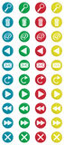Χρωματισμένος γύρω από τα εικονίδια 2 Στοκ εικόνα με δικαίωμα ελεύθερης χρήσης