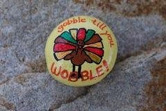 Χρωματισμένος η Τουρκία βράχος ημέρας των ευχαριστιών Στοκ φωτογραφίες με δικαίωμα ελεύθερης χρήσης