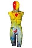 Χρωματισμένος θηλυκός κορμός μανεκέν Στοκ εικόνα με δικαίωμα ελεύθερης χρήσης