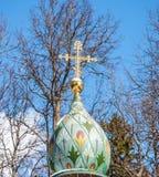 Χρωματισμένος θόλος εκκλησιών Στοκ Εικόνες