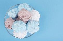Χρωματισμένος μαρέγκα αέρας ζάχαρης νόστιμος στοκ φωτογραφίες με δικαίωμα ελεύθερης χρήσης