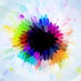 Χρωματισμένος μικρός κύκλος κτυπημάτων βουρτσών Στοκ εικόνα με δικαίωμα ελεύθερης χρήσης
