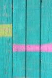 Χρωματισμένος ξύλινος τοίχος Στοκ Εικόνα