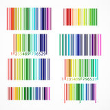 Χρωματισμένος ουράνιο τόξο γραμμωτός κώδικας επίσης corel σύρετε το διάνυσμα απεικόνισης Στοκ Εικόνα