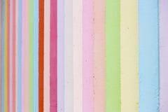 Χρωματισμένος ουράνιο τόξο τοίχος Στοκ εικόνες με δικαίωμα ελεύθερης χρήσης