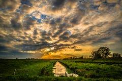 χρωματισμένος ουρανός στοκ εικόνες με δικαίωμα ελεύθερης χρήσης