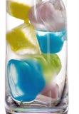 χρωματισμένος πάγος Στοκ εικόνα με δικαίωμα ελεύθερης χρήσης