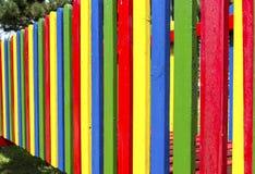 Χρωματισμένος παιδική χαρά φράκτης Στοκ Φωτογραφίες