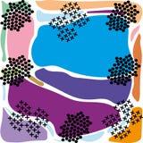 Χρωματισμένος περίληψη μπλε πορφυρός ρόδινος γεωμετρικός υποβάθρου ελεύθερη απεικόνιση δικαιώματος