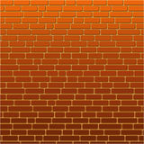 Χρωματισμένος πορτοκαλής τουβλότοιχος υποβάθρου Στοκ φωτογραφία με δικαίωμα ελεύθερης χρήσης