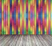 χρωματισμένος πολυ τοίχ&omicr Στοκ Εικόνες