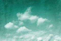Χρωματισμένος σμάραγδος ουρανός Στοκ εικόνες με δικαίωμα ελεύθερης χρήσης